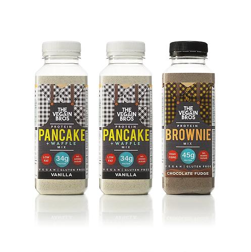 GF Vegan Baking Mixes - 2 x Vanilla Pancake + 1 x Brownie