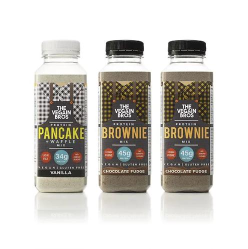 GF Vegan Baking Mixes - 1 x Vanilla Pancake + 2 x Brownie