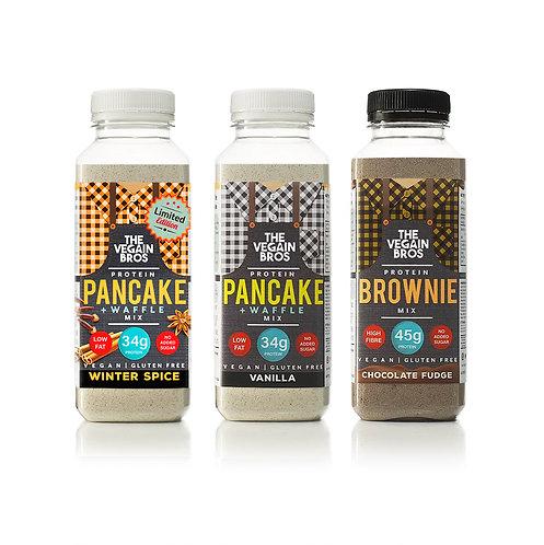 GF Vegan Baking Mixes - 1 x Winter Spice x 1 x Vanilla + 1 x Brownie
