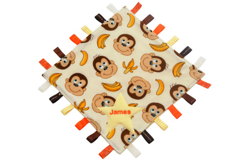 Cheeky monkey tagsy blanket personalised baby gifts newborn baby cheeky monkey tagsy blanket personalised baby gifts newborn baby gifts personalized baby negle Gallery