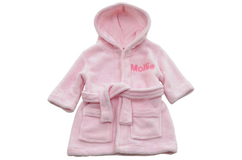 Pink Personalised Dressing Gown