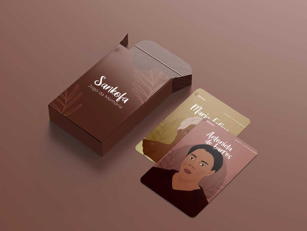 Jogo da Memória Sankofa para imprimir