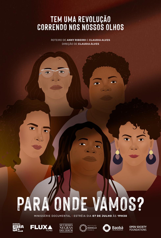 Cartaz de divulgação da Minissérie documental Para onde vamos?