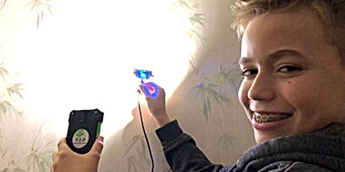 Kid develops high lumens LED for disaster relief