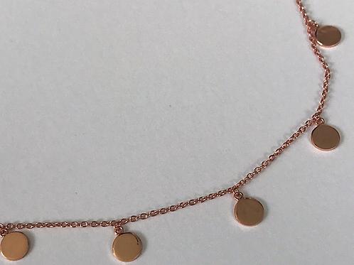 Kylie Rose Gold Choker Necklace