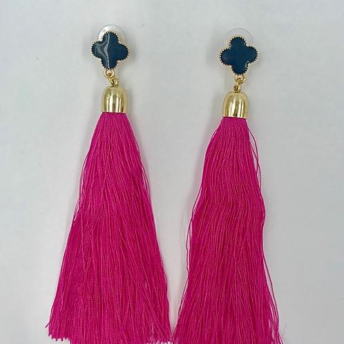 Clover Fringe Earrings