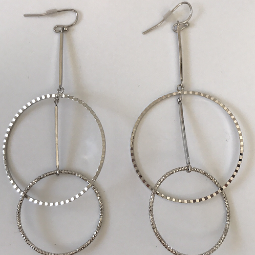 19Collection-White Double Hoop Earrings