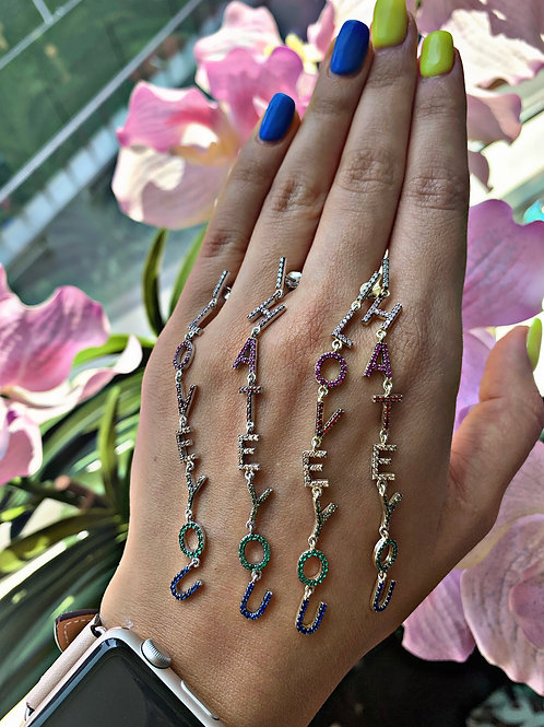 LOVE-HATE Sterling Silver Earrings