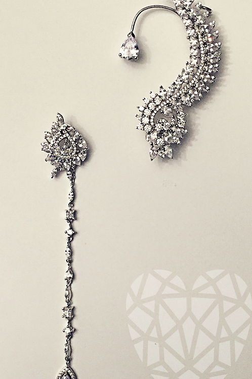 Rene Ear Cuff Set-White