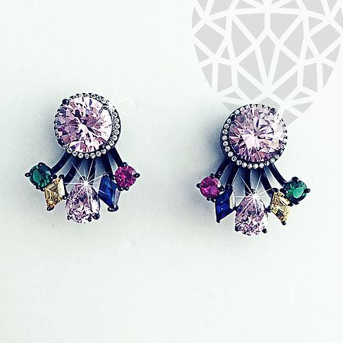 Meg Stud Ear Jacket Earrings