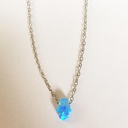Mini Opal Hamsa Necklace