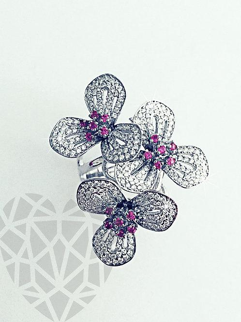 Mindy Flower Cluster Cocktail Ring