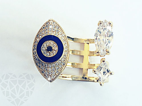 Mickey Blue Evil Eye Ring