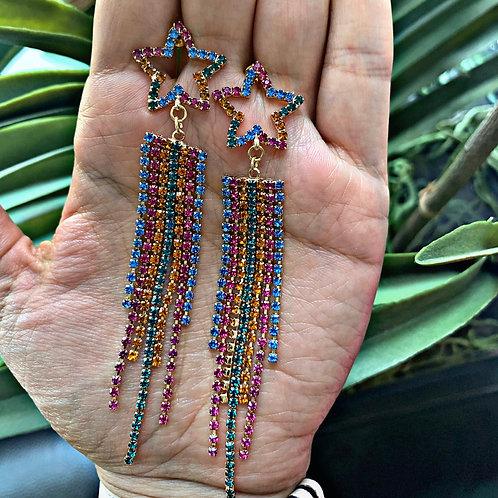 Emily Star Rainbow Earrings