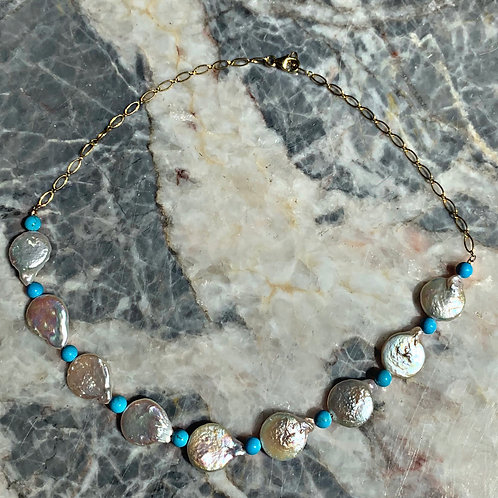 Cynthia Natural Pearl Necklace