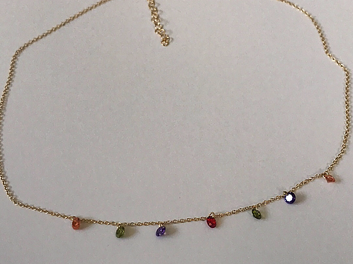 Multi-Stone Choker Necklace