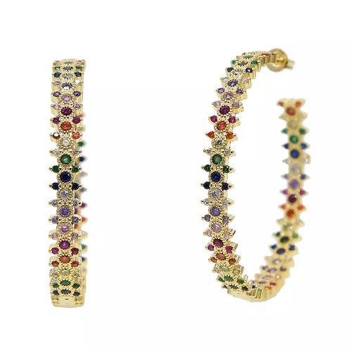 Andrea Rainbow Hoop Earrings