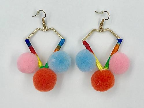Happy Pom-Pom Earrings