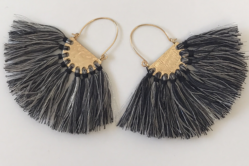 19Collection-Silver Fringe Earrings