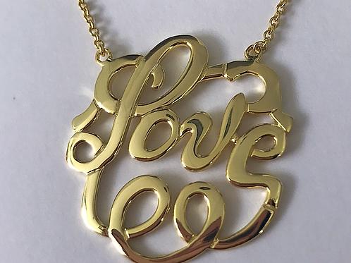 Monogram LOVE Necklace