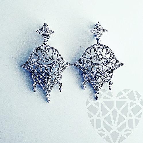 """""""K"""" Chandelier Earrings"""