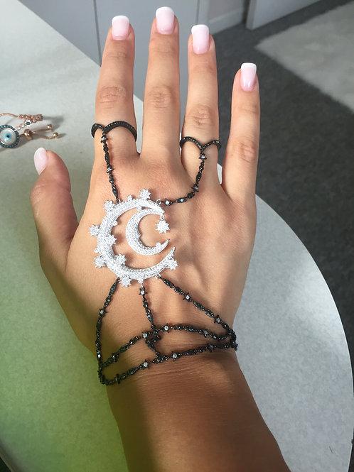 Simona Slave Bracelet-Black