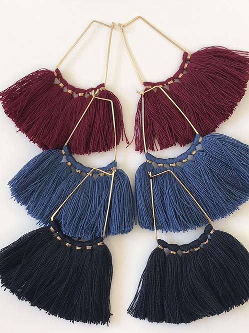 19Collection-Fringe Dangle Earrings