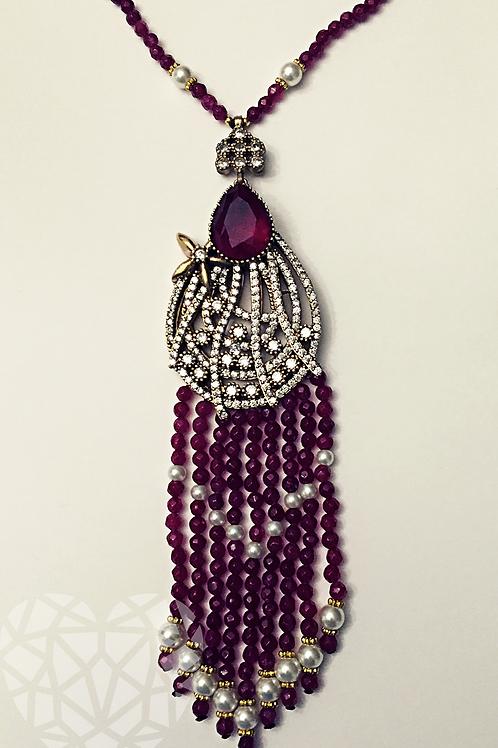 Ruby Gemstone Necklace