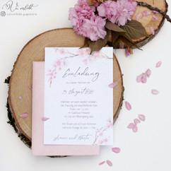 Hochzeitseinladung Kirschblüten