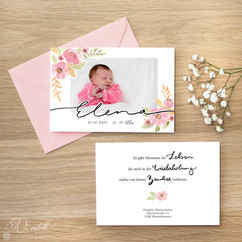 Babykarte Mädchen 1