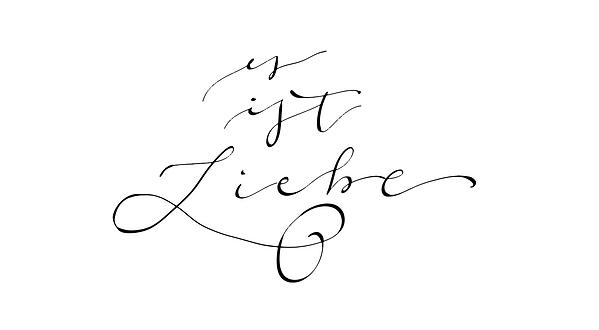 Es ist Liebe Handlettering Kalligrafie