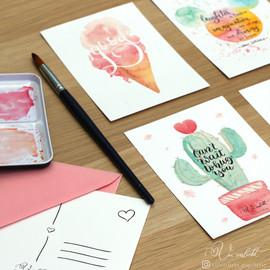 Postkartenset Freundschaft