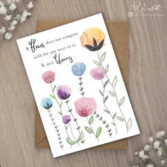 Flower Postkarte