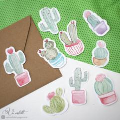 Kaktus Sticker Set