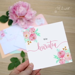 Pastellverliebt Wir heiraten Einladung