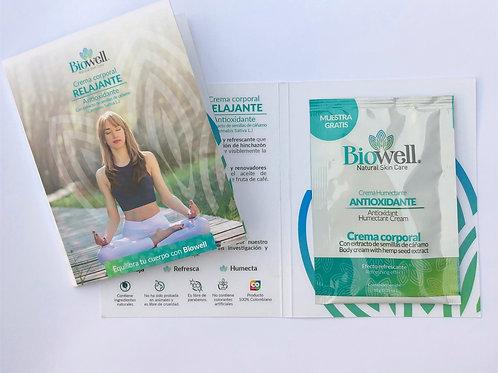 Kit descubre: 5 sachets Crema Relajante y Antioxidante Biowell