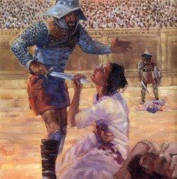 Roman soldier killing Perpetua