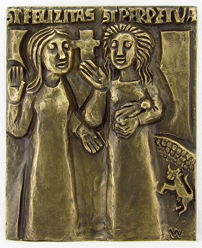 Sts. Perpetua and Felicity Plaque