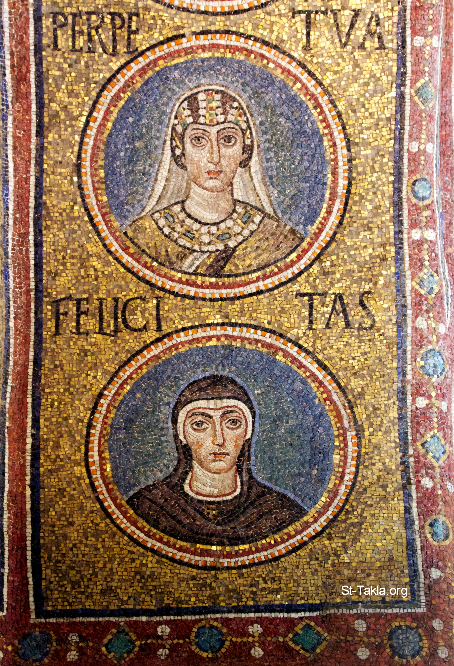 Mosaic: Saints Perpetua and Felicity