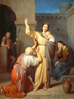 St. Perpetua Comforting her Father