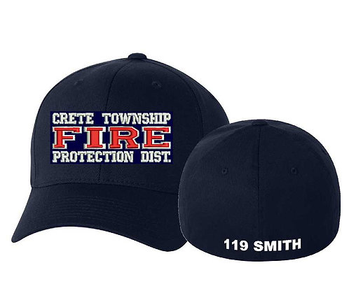 CTFD Fire Fitted Baseball Hat 3D Puff