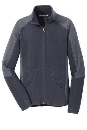 Ladies Colorblock Microfleece Jacket