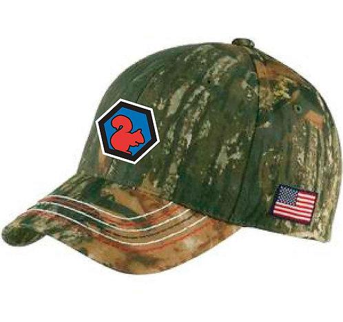 Americana Contrast Stitch Camouflage Cap