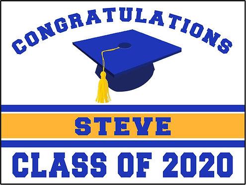Graduate Cap Sign