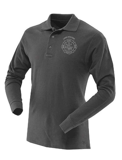 Lake Station Fire Long Sleeve Polo Shirt