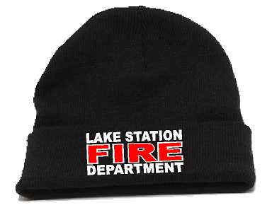 Lake Station Fire Fold Over Knit Beanie Cap