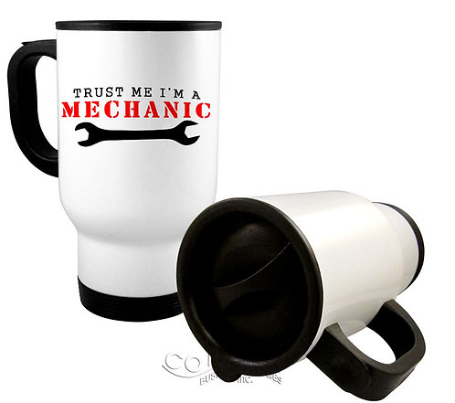 White Stainless Steel Travel Mug  12 - 23 mugs