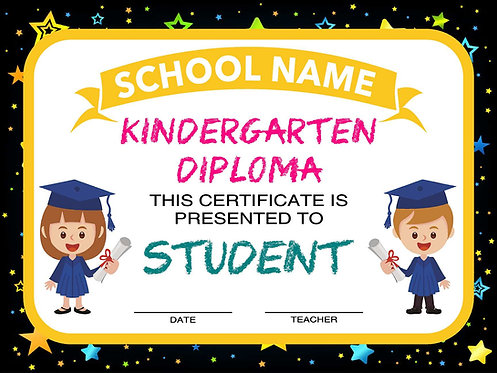 Kindergarten Diploma Yard Sign