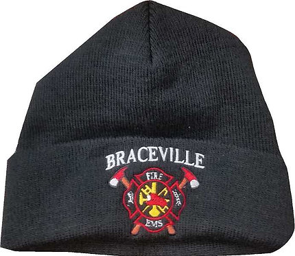Braceville Fire Fold Over Knit Beanie Cap