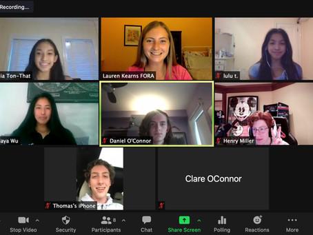 FORA's Spring 2021 Youth Advisory Board